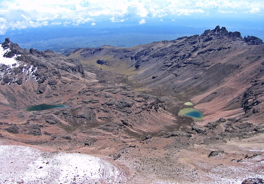 Gorges Valley from above Austrian Hut, Mount Kenya