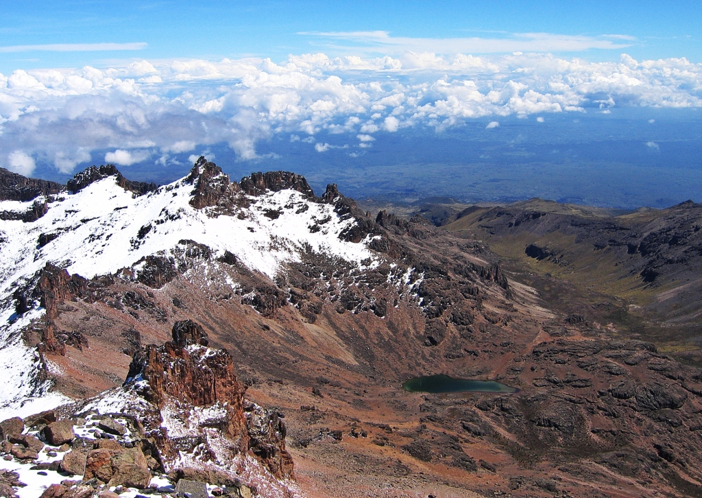 View from Point Lenana, Mount Kenya