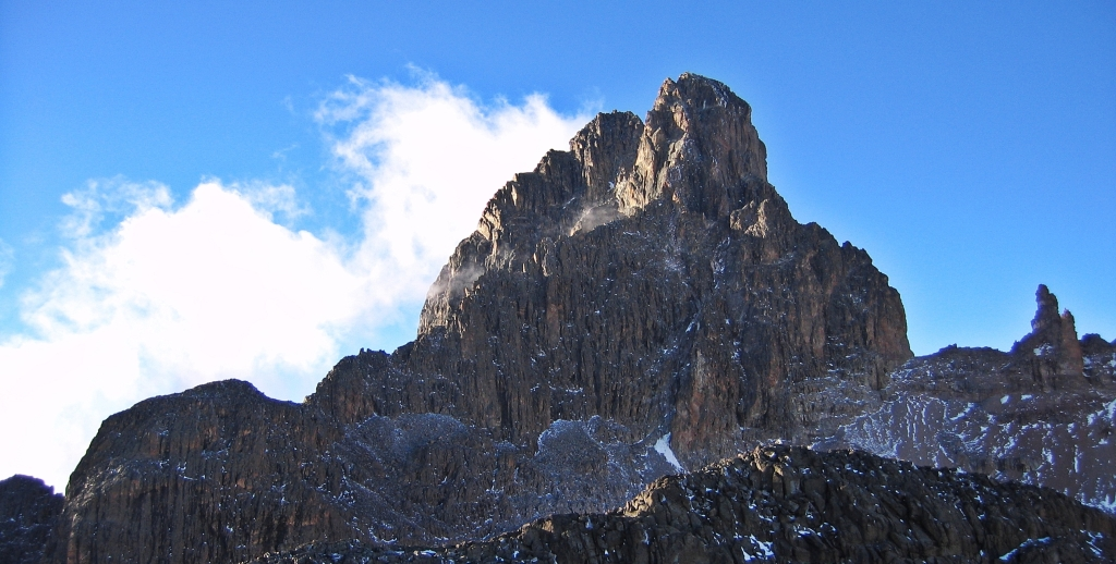 Nelion Peak from Point Lenana, Mount Kenya