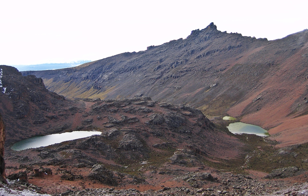 Mountain tarns, Chogoria Route, Mount Kenya