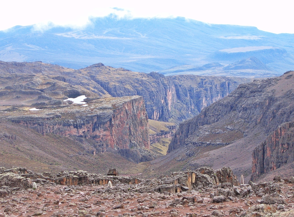 The Temple, Gorges Valley, Mount Kenya