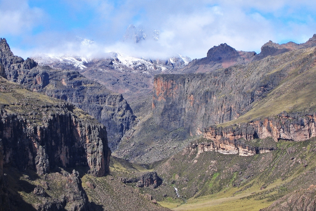 Mount Kenya above Gorges Valley
