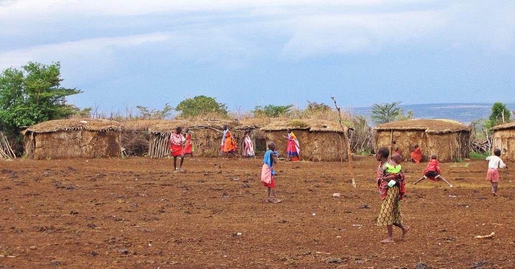 Maasai village, Maasai Mara National Reserve