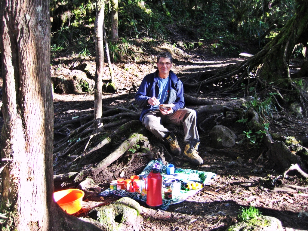 Breakfast at Forest Caves, Mount Kilimanjaro