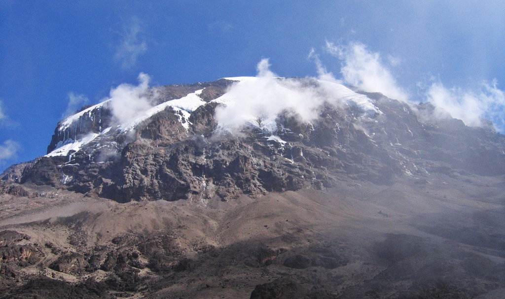 Kibo from above Baranco Wall, Mount Kilimanjaro