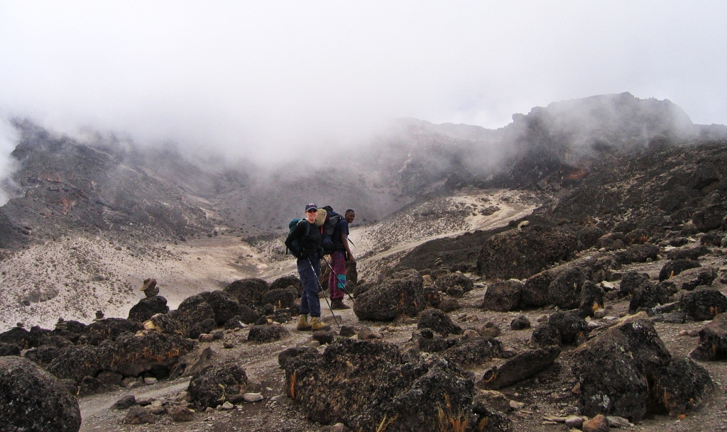 Barren land below Barafu Hut, Mount Kilimanjaro