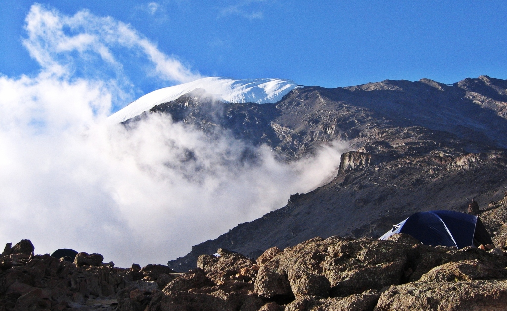 Barafu Camp below Kibo Peak, Mount Kilimanjaro