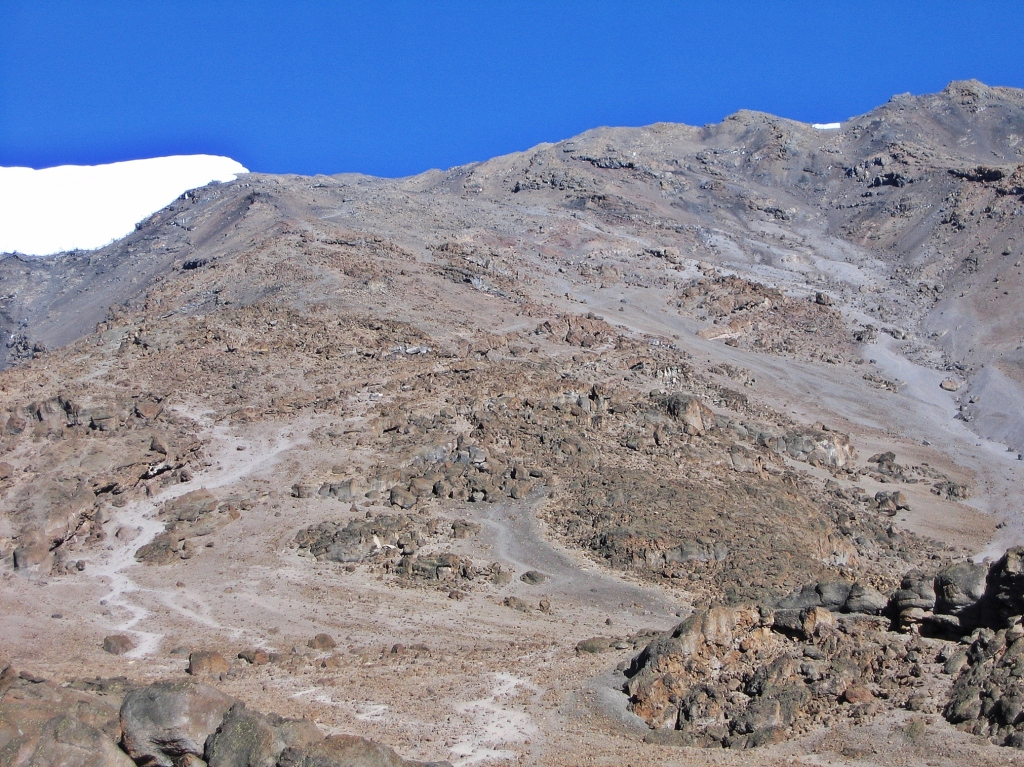 Route above Barafu Hut, Mount Kilimanjaro