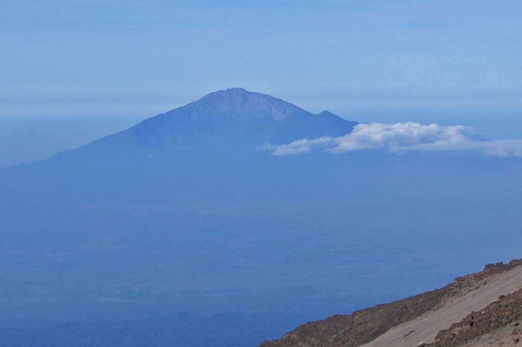 Mount Meru from Kilimanjaro