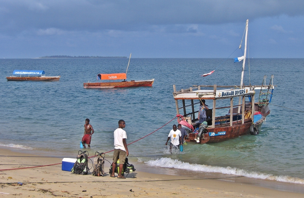 Dhow dive boat, Zanzibar