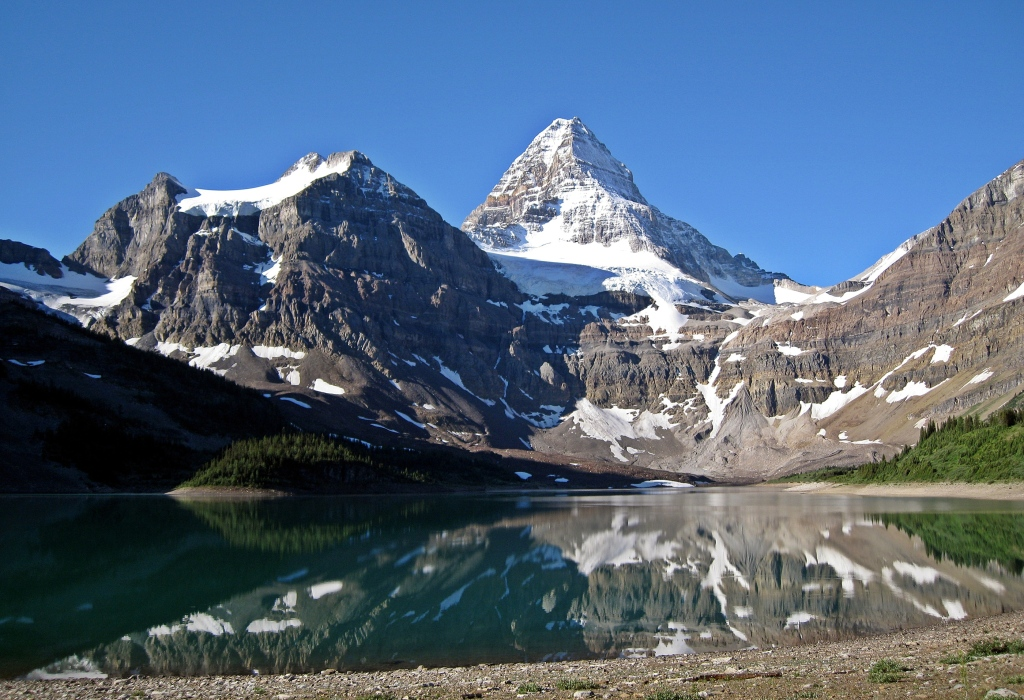 Mount Assiniboine reflecting on Lake Magog, Summer 2008