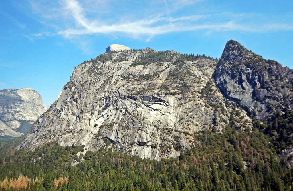 Tip of Half Dome from The Grack, Glacier Point Apron, Yosemite