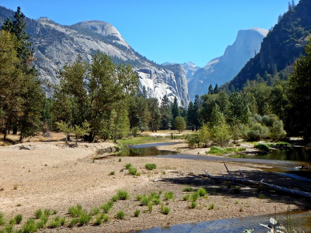 North Dome and Half Dome, Yosemite Valley