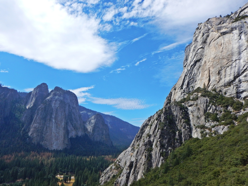 View of El Cap and Cathedrals from After 7, Ranger Rock, Yosemite