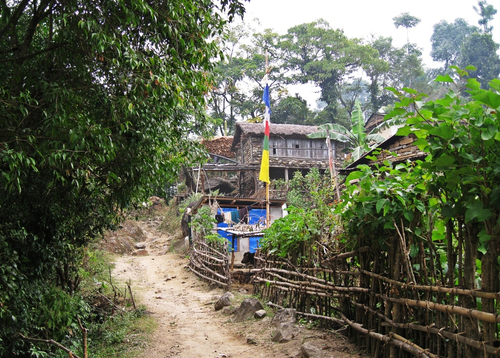 Village on Annapurna Circuit Trek