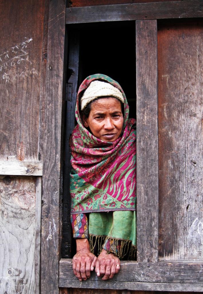Nepalese woman, Annapurna Circuit Trek