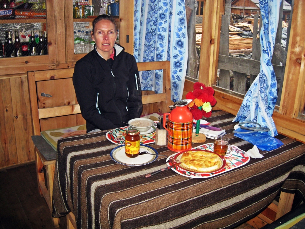 Tibetan breakfast in guest house, Pisang, Annapurna Circuit Trek