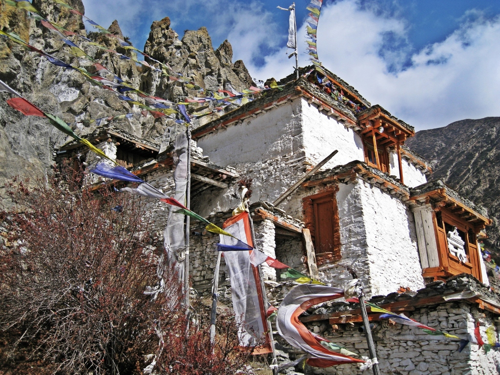 Monastery, Braga, Annapurna Circuit Trek