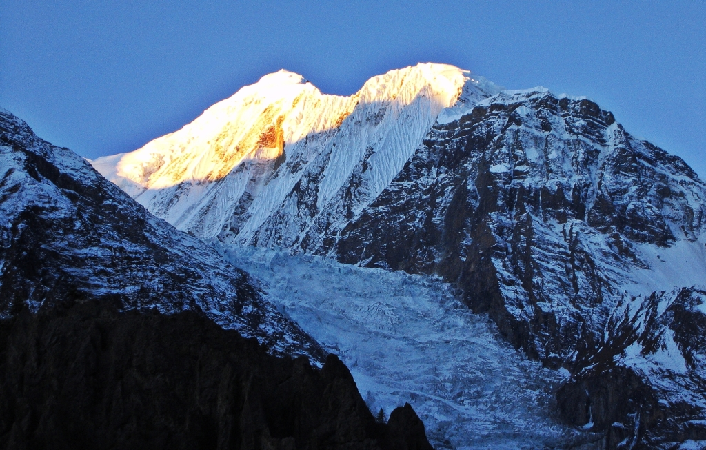 Sunrise above High Camp, Annapurna Circuit Trek