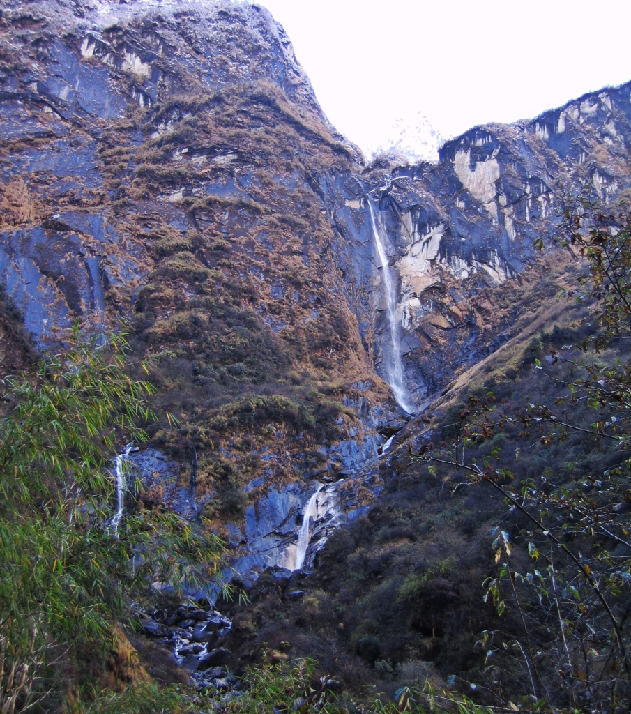 Waterfall near Deurali, Annapurna Sanctuary Trek