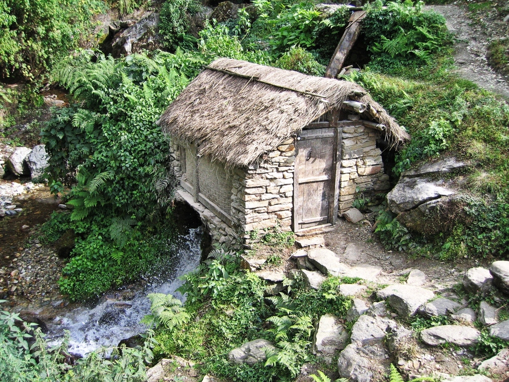 Watermill, Annapurna Sanctuary Trek