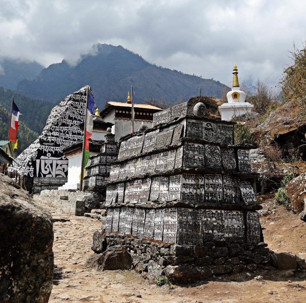 Mani stones, Everest Base Camp Trek