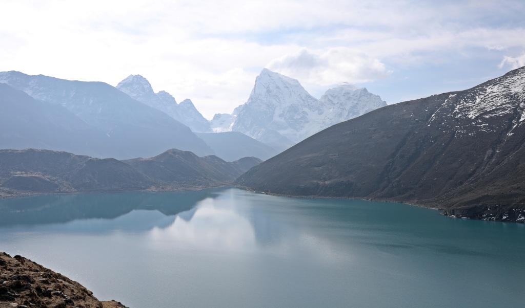 Dudh Pokhori (Lake) from below Renjo La, Everest 3 Passes Trek