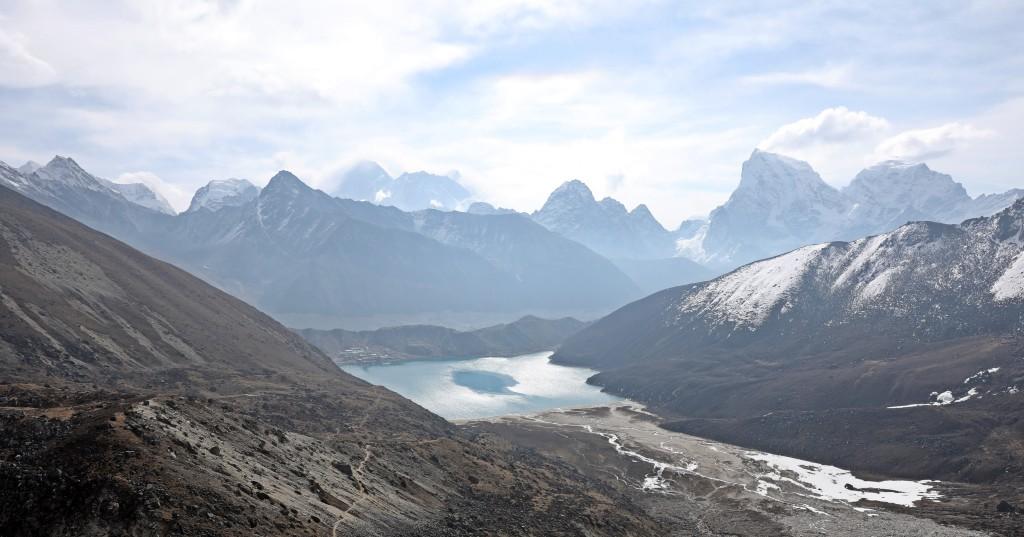 View from below Renjo La, Everest 3 Passes