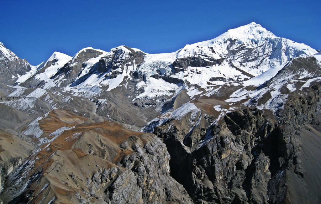 Chulu West from High Camp viewpoint, Annapurna Circuit Trek
