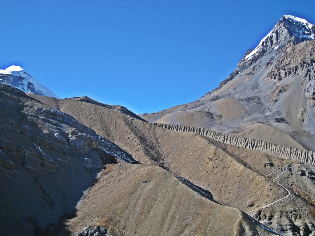 Trail above High Camp, Annapurna Circuit Trek