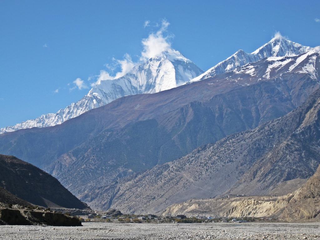 Dhaulagiri above Kali Gandaki, Annapurna Circuit Trek
