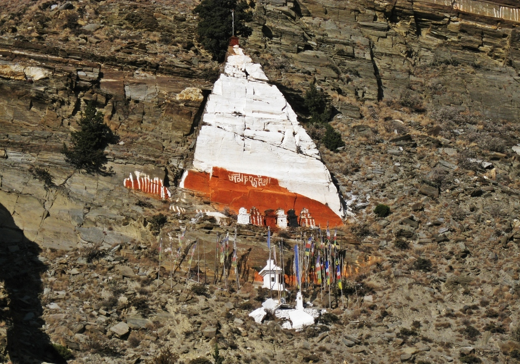 Rhisum Gompa above Marpha, Annapurna Circuit Trek