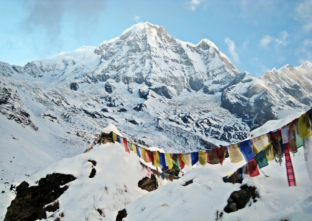 Prayer flags, Annapurna Sanctuary