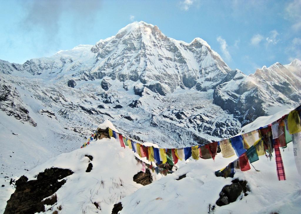 Prayer flags, Annapurna Sanctuary