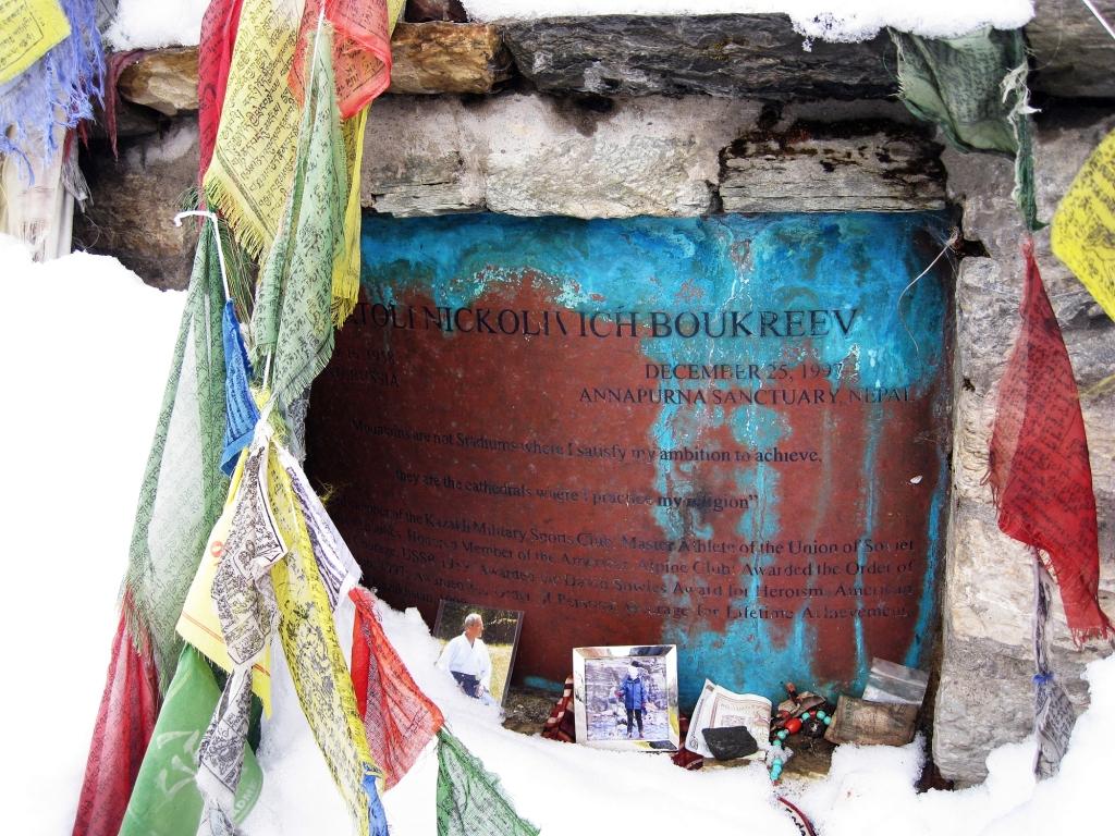 Anatoli Boukreev memorial, Annapurna Sanctuary