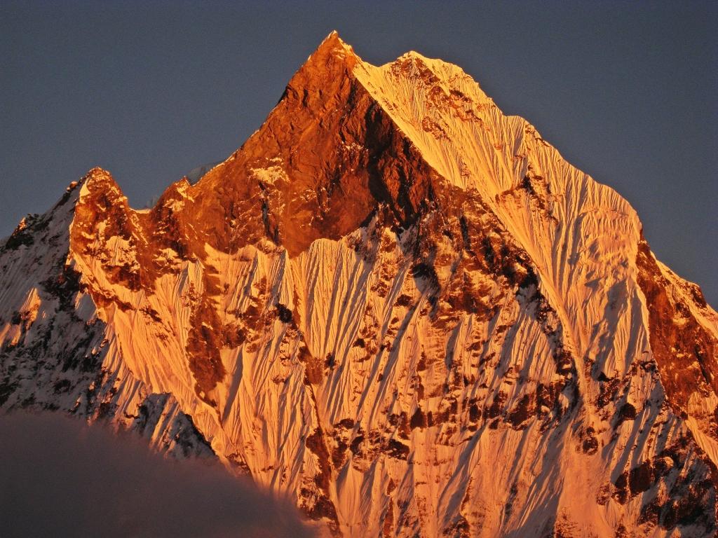 Alpenglow on Machhapuchhare, Annapurna Sanctuary