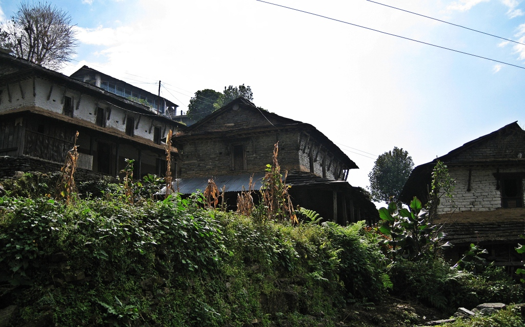 Newari houses, Annapurna Circuit Trek