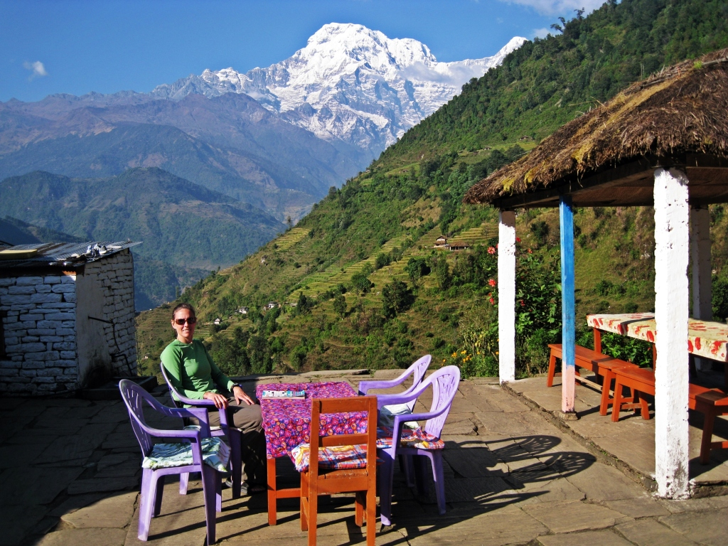 Annapurna South, Landruk guesthouse