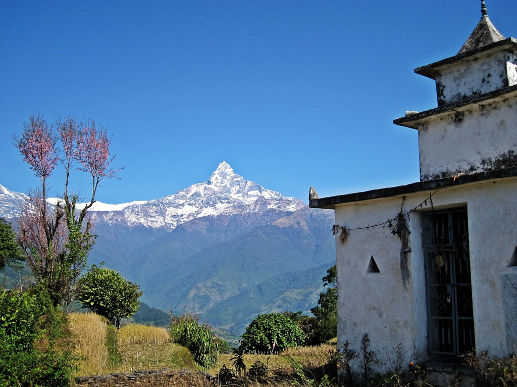 Machhapuchhare, above Dhampus