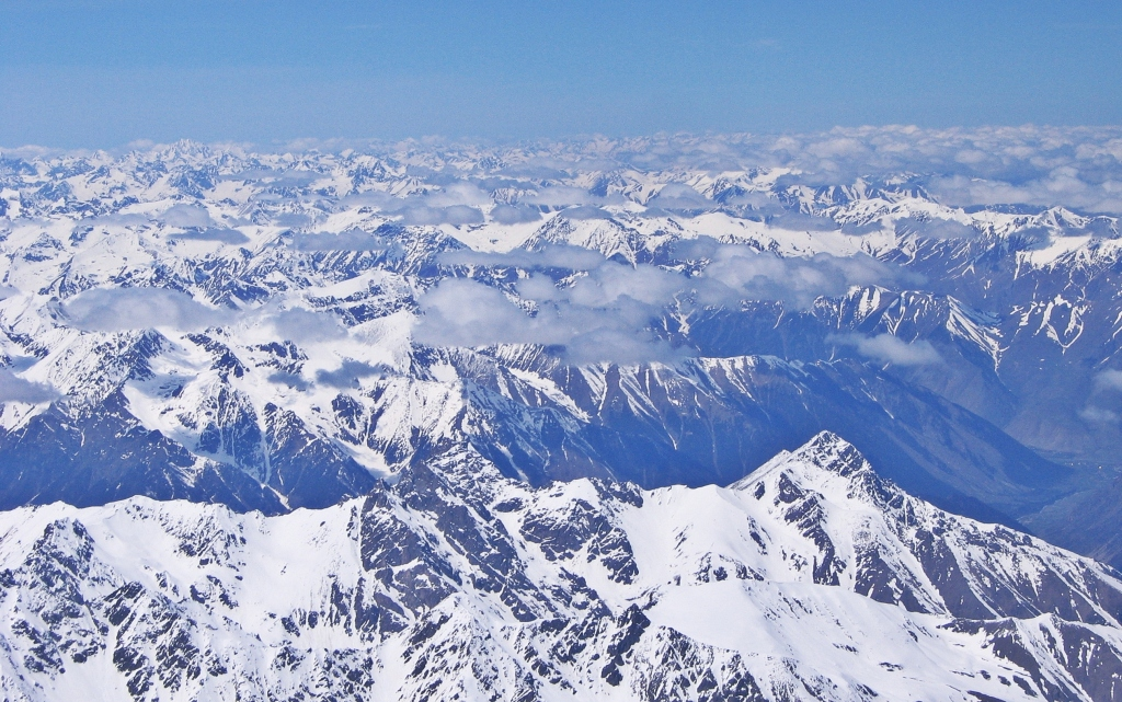View from the summit of Mount Elbrus