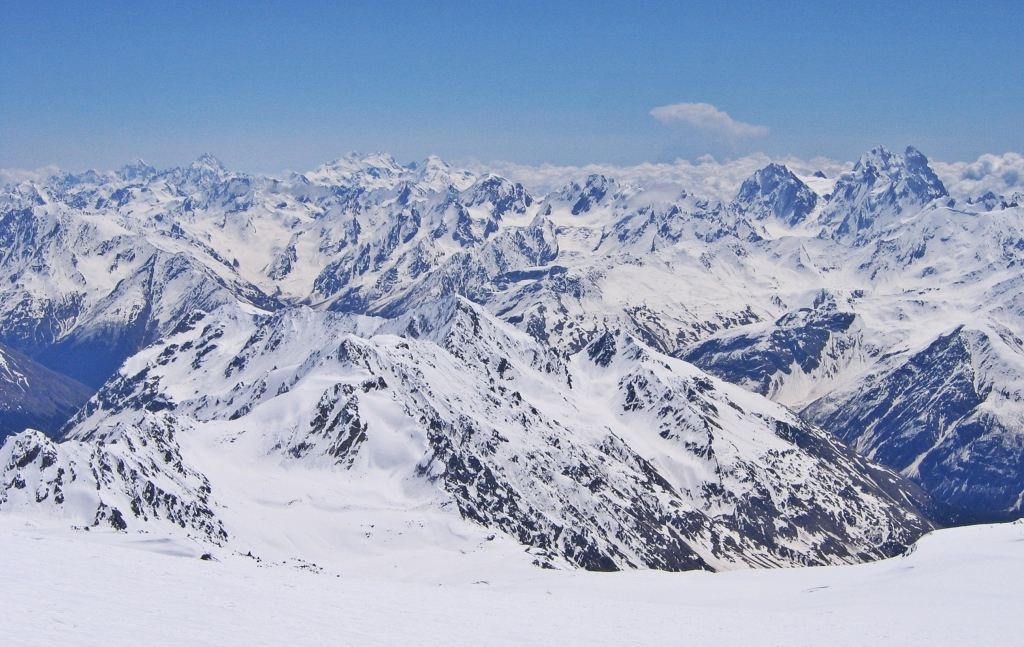 View from Barrel Huts, Mount Elbrus climb