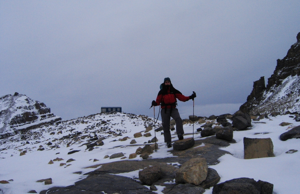 Below Peyto Hut, Wapta Icefields