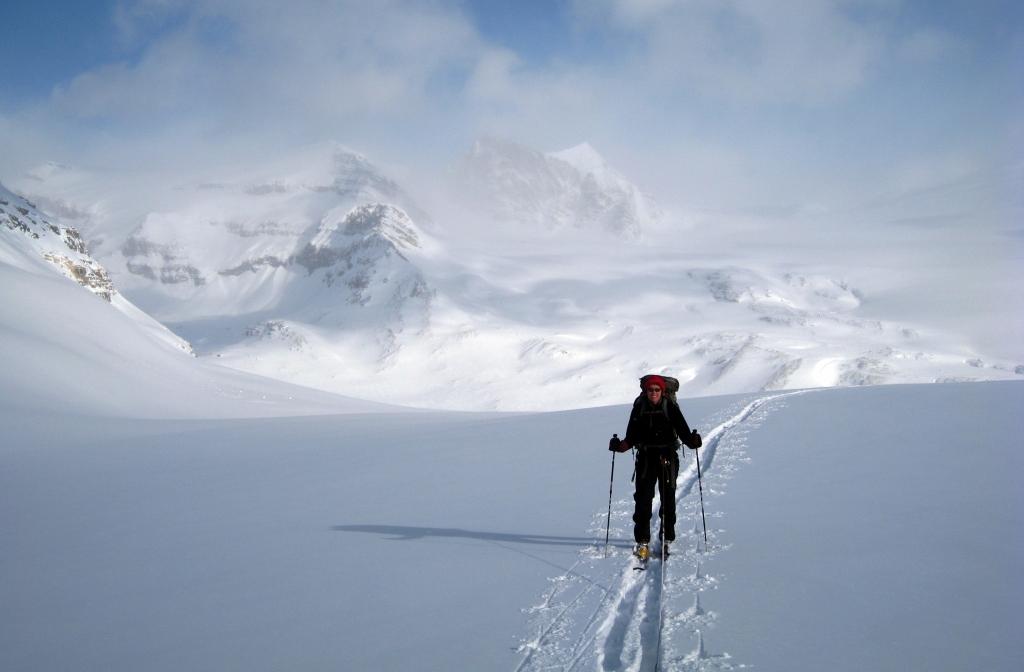 Approaching High Balfour Pass, Waputik Icefield