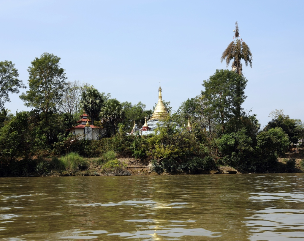 Pagodas along the Thanlwin River, Myanmar