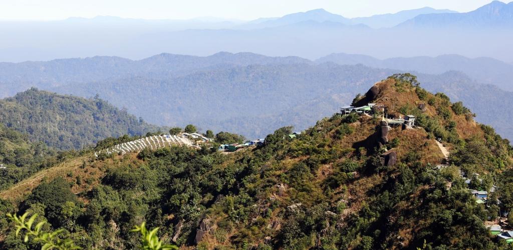 Mt. Kyaiktiyo ridge,Golden Rock