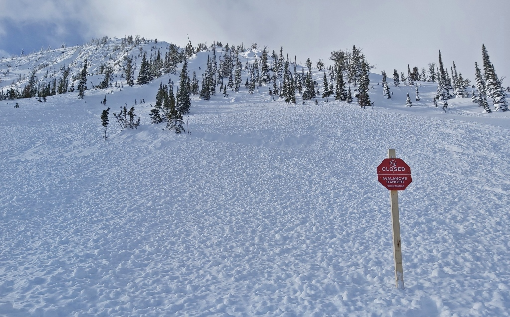 Controlled avalanche, Kicking Horse Mountain Resort