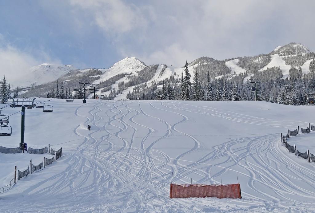 Powder day, Kicking Horse Mountain Resort