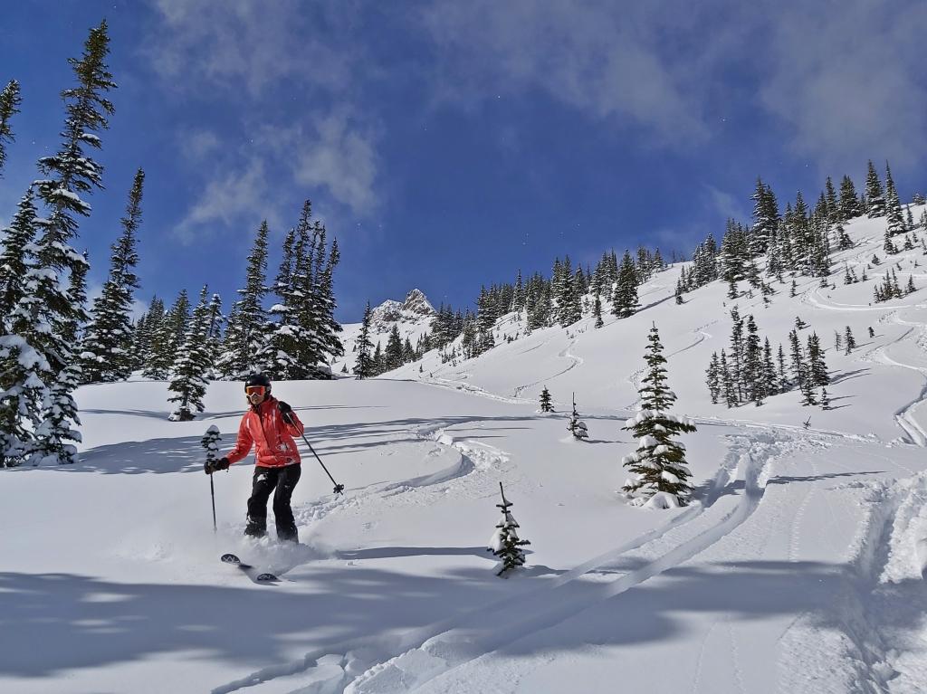Powder day, Middle Ridge, Kicking Horse Mountain Resort