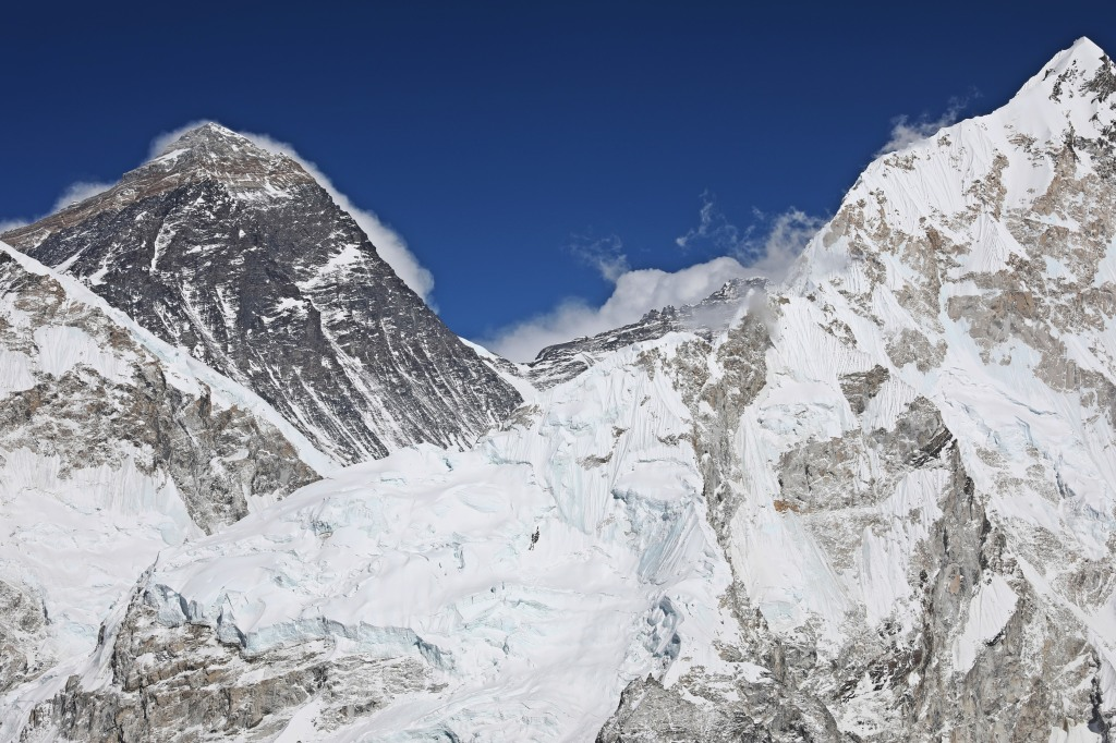 South Col and summit of Everest from Kala Pattar