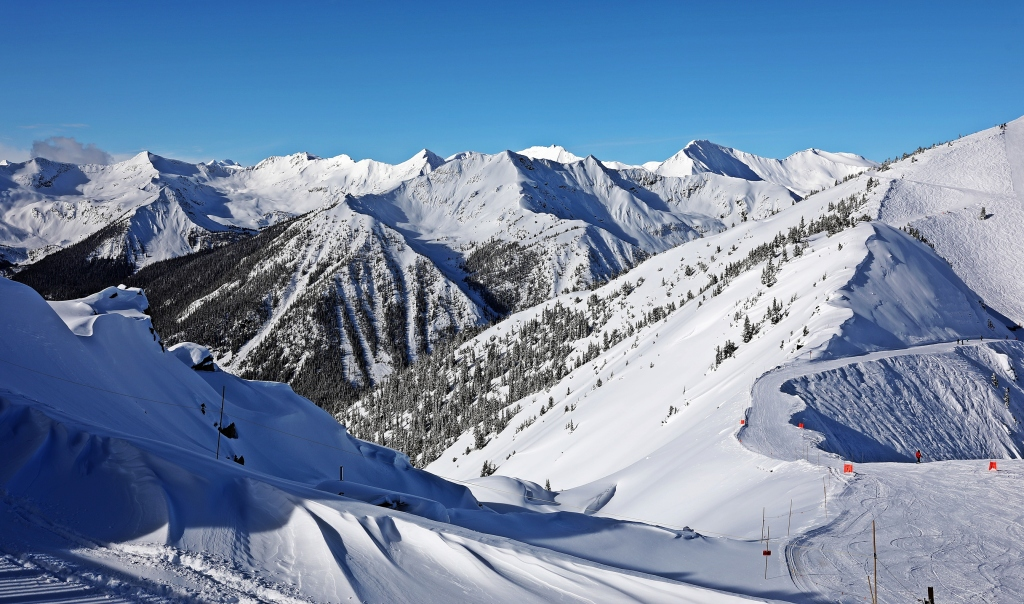 View from Gondola top, Kicking Horse Mountain Resort